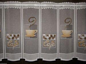 scheibengardine k che cafe gardine bistro kaffee tasse 15. Black Bedroom Furniture Sets. Home Design Ideas