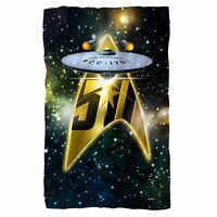 Star Trek Anniversary Enterprise Officially Licensed Fleece Throw Blanket 36x58