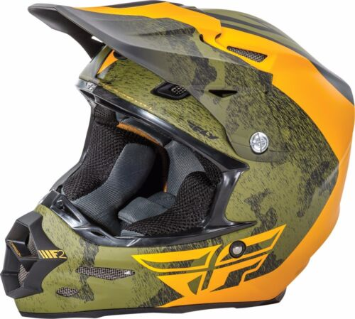 Fly Racing F2 Carbon Pure Helmet Motocross Dirt Bike Offroad ATV UTV Snowmobile