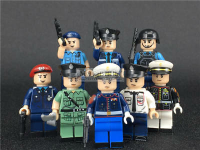 Hong Kong Police Force SDU PTU Honor Guard Brick Block Mini Figure Set of 8 New