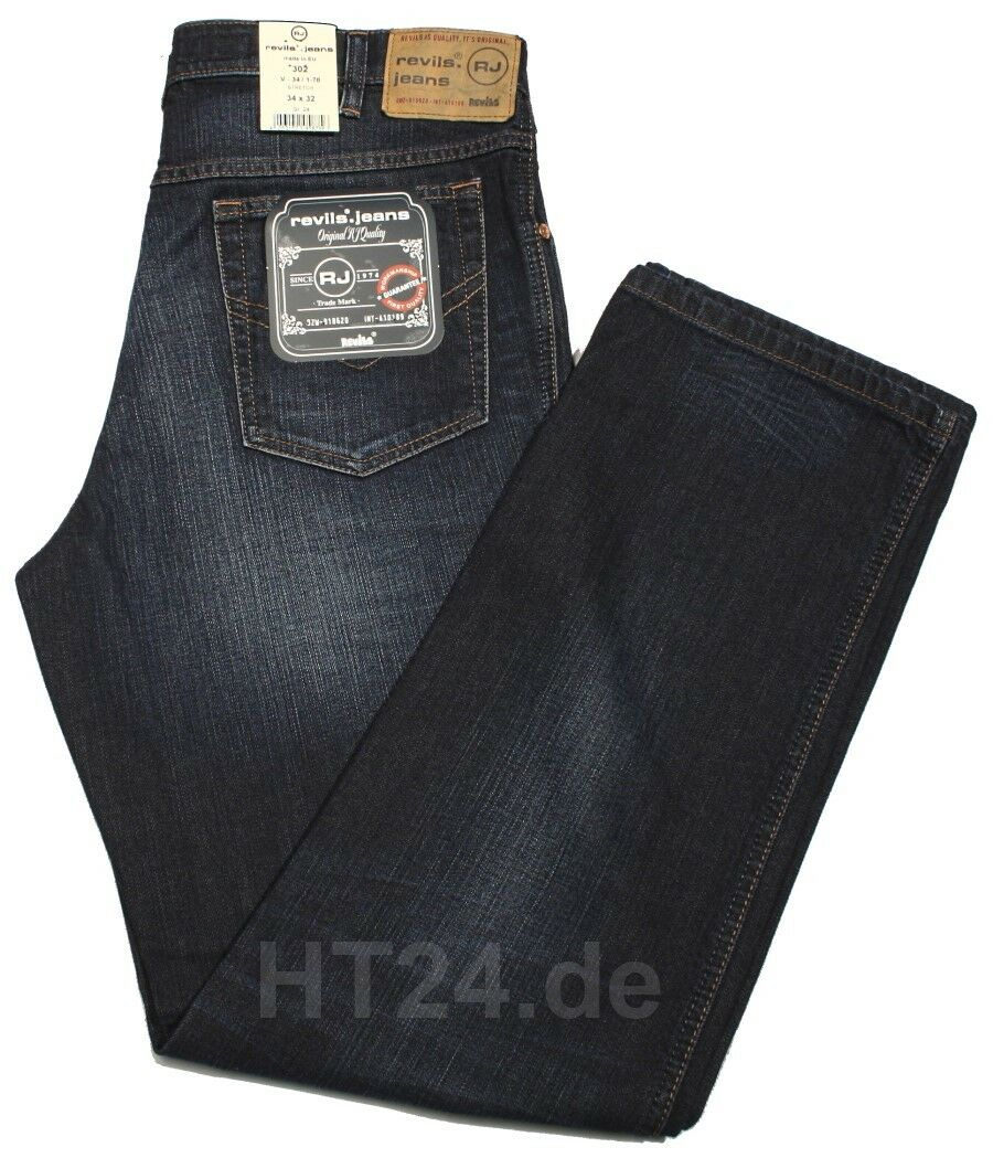 REVILS JEANS JEANS JEANS 302 V34 1-78 Stretch darkBlau used W33 Länge 38 Buffies Top-Jeans 520319