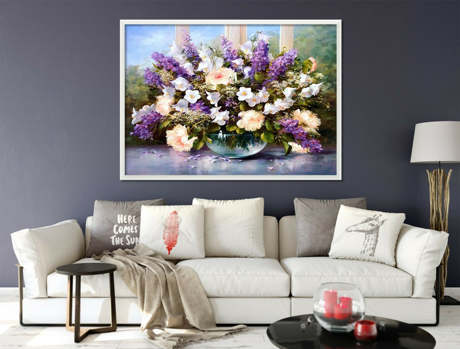 3D Potted Plant 6 Fake Framed Poster Home Decor Print Painting Unique Art Summer