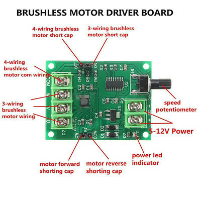 DC 5V-12V Brushless Motor Speed Converter Switch 3-wire//4-wire//Hard drive//CD-ROM