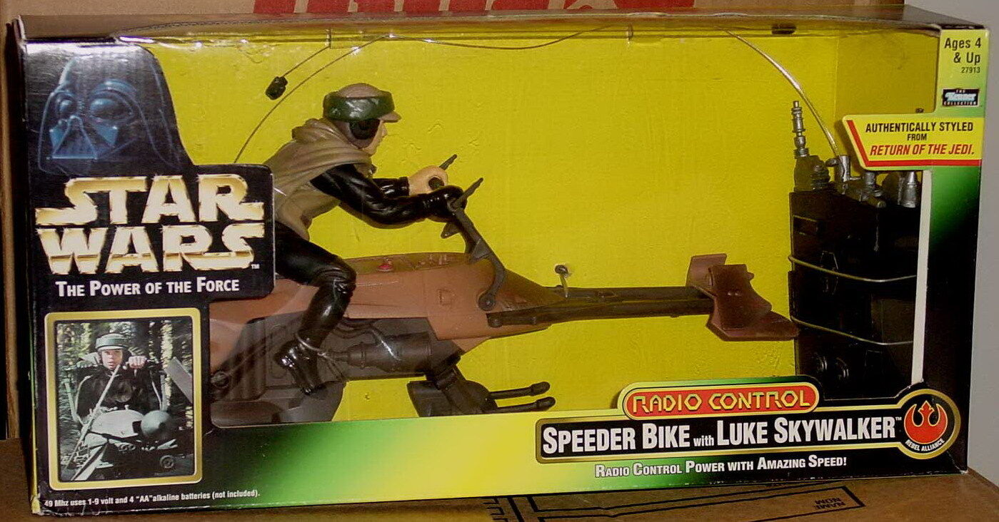 Star Wars Power Of The Force Speeder Bike With Luke Skywalker (Radio Control)
