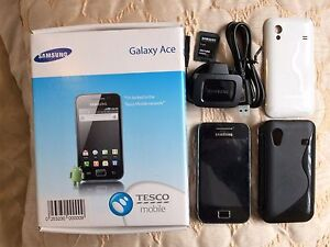 samsung galaxy ace gt s5830i onyx black smartphone unlocked micro sd card ebay. Black Bedroom Furniture Sets. Home Design Ideas