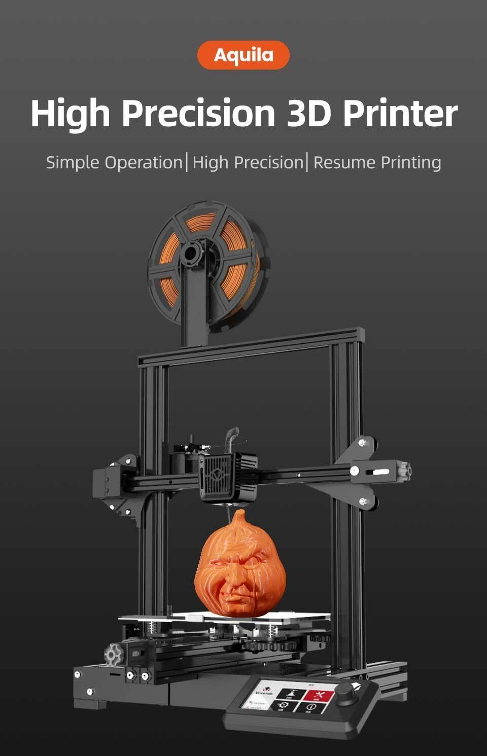 Voxelab Aquila DIY 3D Printer Kit High Precision Part Assembled 220x220x250mm UK