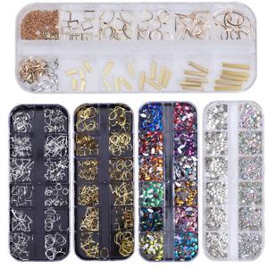 Nail-Art-Rhinestones-Case-Assorted-Mix-Gem-Designs-Tips-UV-Gel-Decoration-DIY