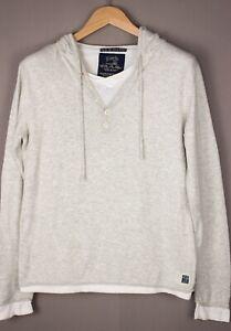 Scotch & Soda Herren Freizeit Locker Henley Pullover Sweatshirt GRÖSSE S ARZ1412