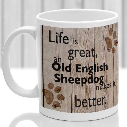 ideal present for dog lover Old English  dog gift Old English Sheepdog dog mug