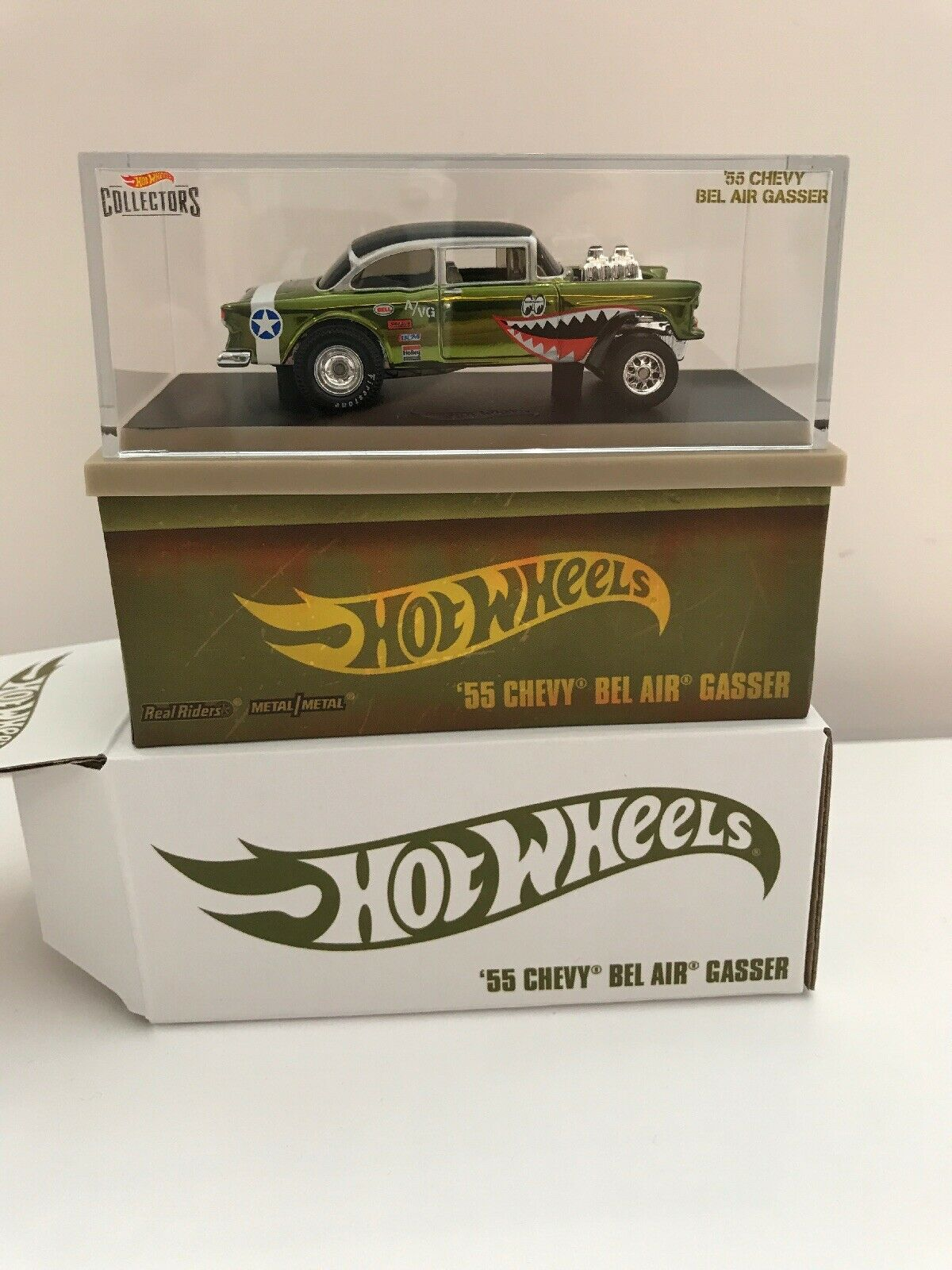 2019 Hot Wheels - 55 Chevy Chevy Chevy Bel Air Gasser (WWII Flying Tigers) RLC IN HAND  7c3