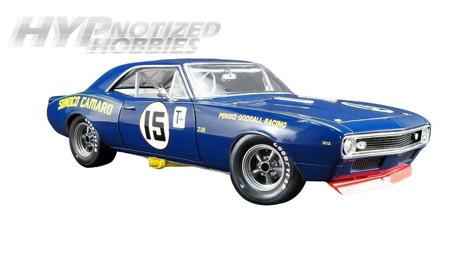 GMP 1 18 1967 Chevrolet TRANS AM CAMARO Z28  15 Mark Donohue DIE-CAST Bleu 18833