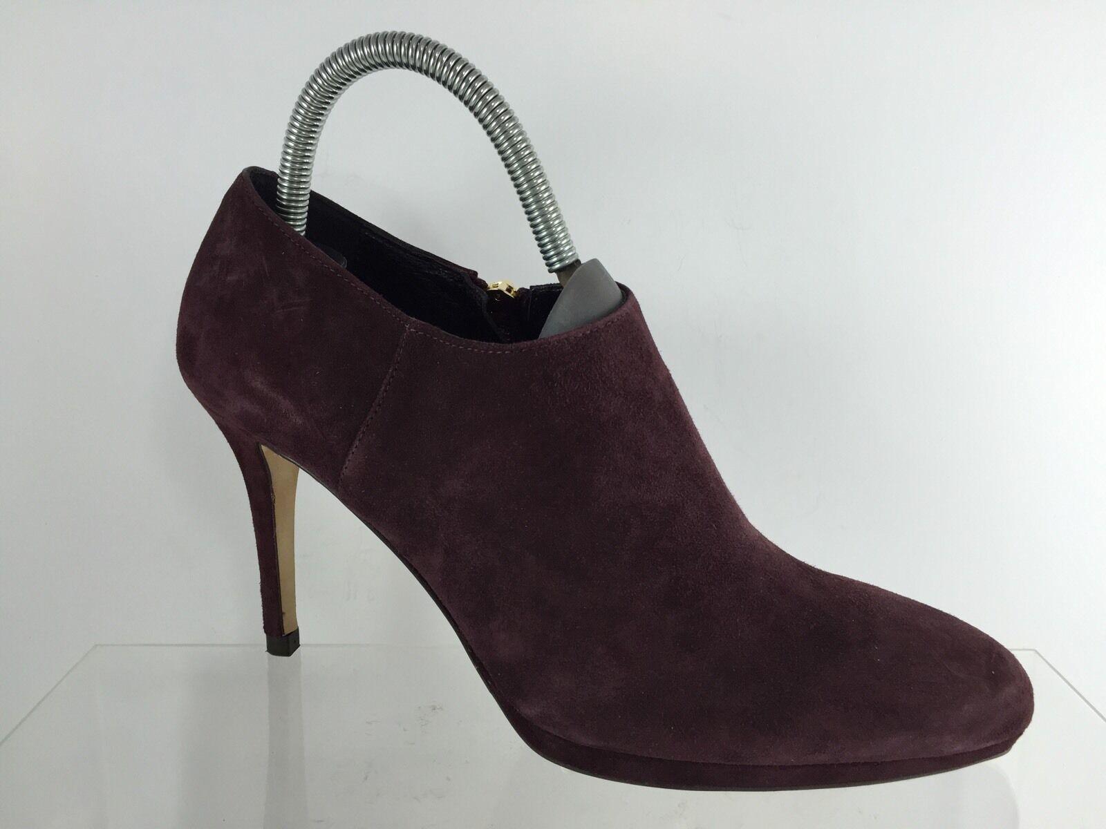 LK Bennett Women's Dark Maroon Leather Ankle Boots 40.5