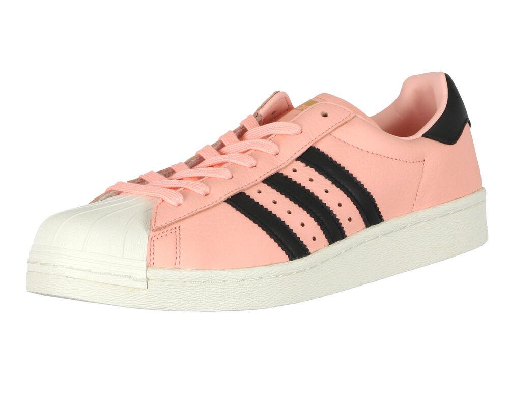 ADIDAS Superstar Boost sz 11.5 Coral Hazel Pink noir blanc Shelltoe BB2731