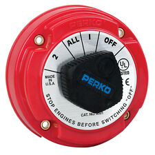 PERKO DUAL BATTERY SWITCH ON-OFF-ON2-ALL BOAT MARINE FOR SINGLE OR DUAL ENGINES