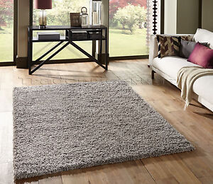 Small-Extra-Large-Thick-Shaggy-Shag-Pile-Silver-Grey-Rug-Overstock-Clearance