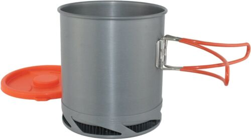 Yellowstone Anodised Fast Boil 1L Pot With Lid Backpacker Lightweight Aluminium