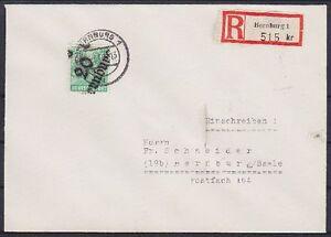 SBZ bzh 181iv EF R-lettera, GEL. a Berna Castello 1948, distretto timbro a mano