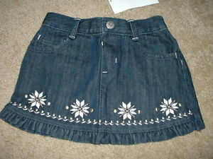 Gymboree Girls 3 Denim Snowflake Skirt Clothing, Shoes & Accessories