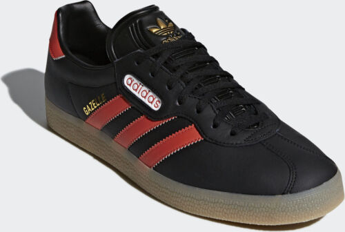 Adidas zecca Uk nuovo Original Super 9 5 Red Scarlet di Mens Gazelle Black Trainer RnrOqCwR