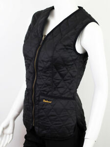 BARBOUR WOMEN'S BLACK QUILTED VEST JACKET US4 UK8 | eBay : black quilted vest - Adamdwight.com
