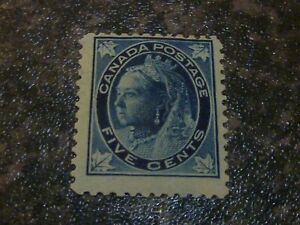 CANADA POSTAGE STAMP SG146 5C BLUE FINE MOUNTED MINT