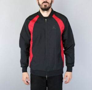 b2bb34faca0 Nike Air Jordan Wings Mens Woven Jacket Black Red Muscle fit Size ...