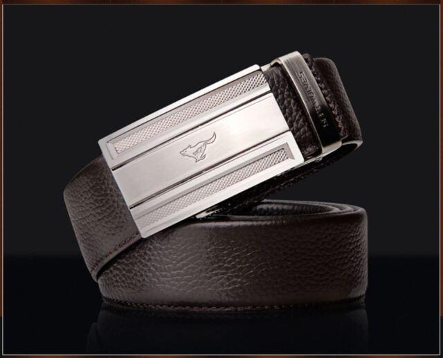 Men's Belt Genuine Leather Wolf Totem Fashion Black/Dark Brown Luxury Septwolves