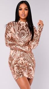 f90c0339e4e Image is loading Fashion-Nova-Talitha-Sequin-Dress-L