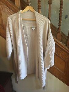 Womens-Armani-Collezioni-Light-Pink-Lambs-Wool-Cardigan-Sweater-Size-8