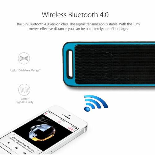 Mini Bluetooth Lautsprecher Musik box Stereo Wireless Subwoofer SD AUX USB FM