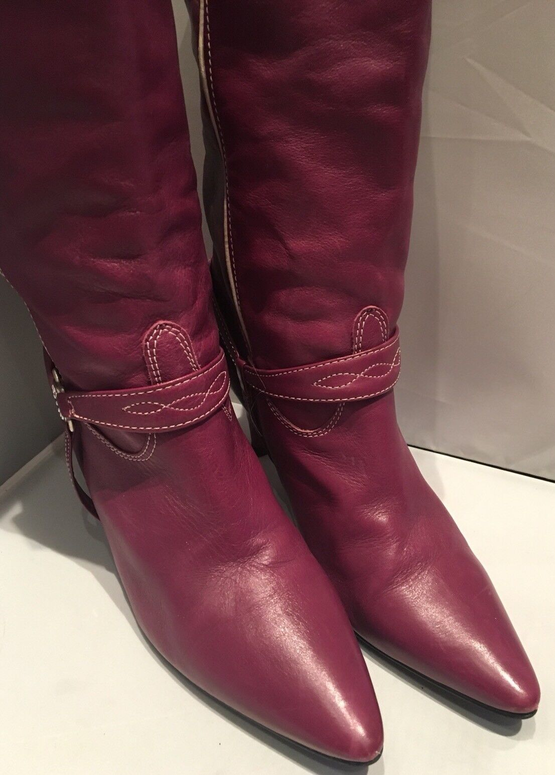 Gorgeous Purple Leder Bronx Cowboy 4 Stiefel, Größe 37, UK 4 Cowboy a558c4