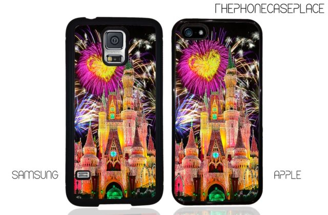 Disney Cinderella Castle Heart Fireworks Personalized With Your Name Phone Case