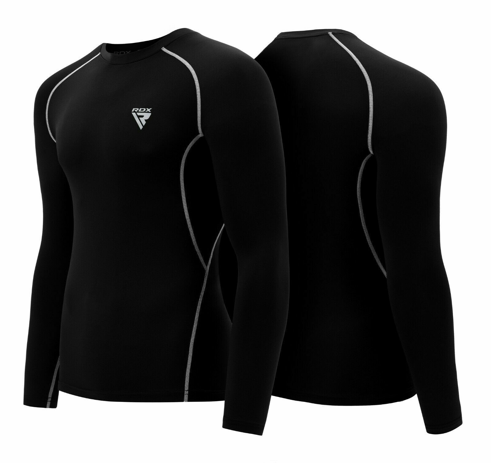 RDX Rash Guard Compression Base Layer MMA  Running Boxing Shirt Long Sleeve US  high quality & fast shipping