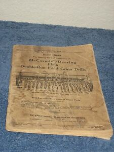 international harvester mccormick deering plain fluted feed grain rh ebay com McCormick Grain Drill Model 10 McCormick International Grain Drill Parts