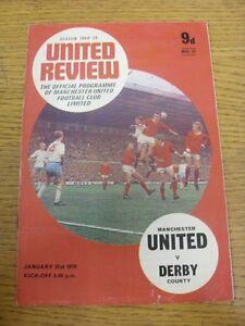 31-01-1970-Manchester-United-v-Derby-County-Crease-Worn-Team-Changes-Token