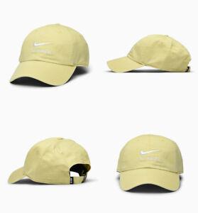 Nike-SB-H86-Twill-Cap-828635-721-Adjustable-Hat-Skateboarding-Lemon-Wash-White