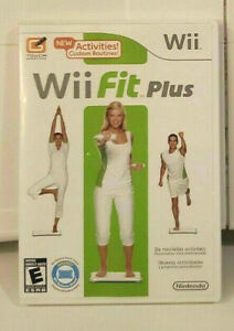 Wii Fit PLUS (Nintendo Wii WiiU) GAME DISC & CASE WORKOUT EXERCISE YOGA PERSONAL