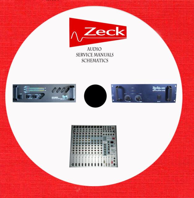 Zeck Audio Repair Service Manuals Schematics On 1 Dvd In Pdf Format