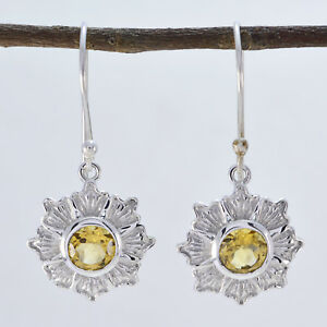 classy-Citrine-925-Sterling-Silver-Yellow-Earring-genuine-indian-US-gift