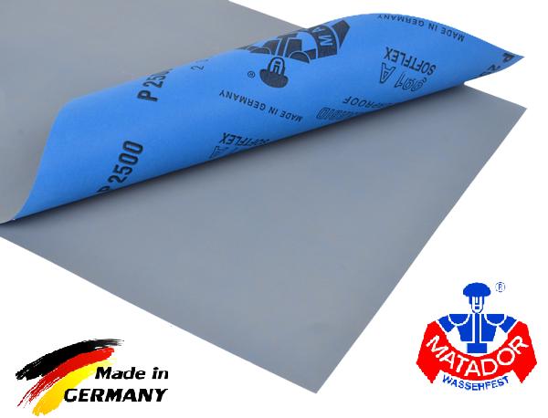 Klingspor Nassschleifpapier 50 Blatt von  P400 für Autolack Wasserschleifpapier