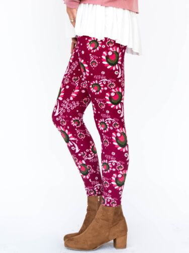 NWT Agnes and Dora Paisley Pops Leggings in XLarge