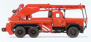 Pompier-Camion-grue-KW-16-F-Magirus-250-D-25-A-Preiser-35033-Trace-HO-OVP