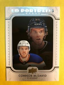 2019-20-Upper-Deck-Series-1-UD-Portraits-P-5-Connor-McDavid-Edmonton-Oilers