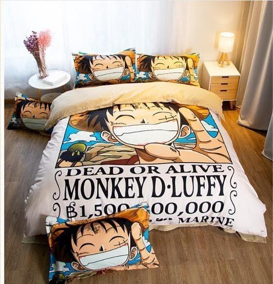 One Piece Luffy Ruffy Anime Manga 3tlg.4tlg. Bettwäsche Bettwäschegarnitur Neu