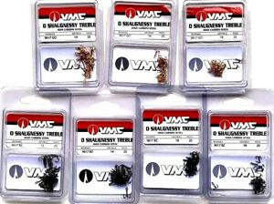 VMC-High-Carbon-Steel-Treble-Fishing-Hooks-Choice-of-Color-amp-Size-One-Package