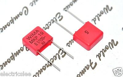 400V 5/% pitch:15mm Polycarbonate Capacitor 10pcs 0,1µF 100nF WIMA MKC4 0.1uF