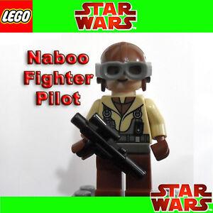 NEU LEGO Star Wars Figur: Naboo Figther Pilot mit Waffe