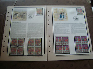 United-Nations-Geneve-Stamp-yt-N-117-118-x5-N-x4-Obl-On-Document
