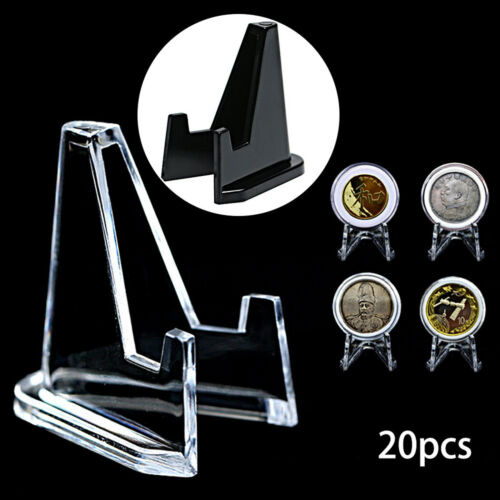 20Pcs Display Stand Easel For Coin Capsule Silver Gold Bullion Holder Air-tite