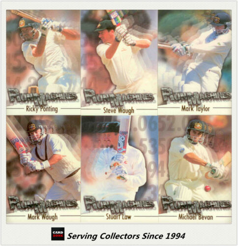 1996/97 Futera Cricket Decider Cards Regular Series Run Machine Card Set (6)